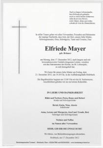 Elfriede Mayer