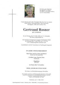 Gertraud Rosner