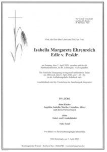 Isabella Margarete Ehrenreich